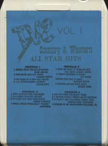 Various Artists: Country & Western All Star Hits, Volume 1 - 8 Track Tape
