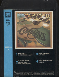 Commodores: Natural High - 8 Track Tape Cartridge