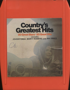 Various Artists: Country's Greatest Hits - 8 Track Tape Cartridge