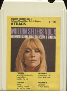 Hollywood Sound Stage Orchestra & Singers: Million Sellers, Volume 4 - 8 Track Tape