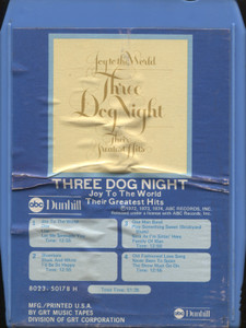 Three Dog Night: Joy to the World, Their Greatest Hits - Vintage 8 Track Tape