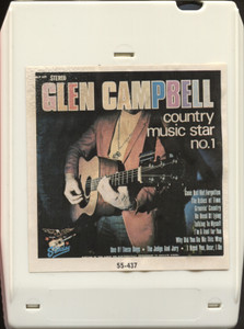 Glen Campbell: Country Music Star No. 1 - 8 Track Tape