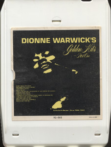 Dionne Warwick: Golden Hits, Part 1 - 8 Track Tape