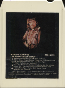 Waylon Jennings: I've Always Been Crazy - 8 Track Tape