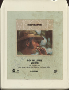 Don Williams: Visions - 8 Track Tape