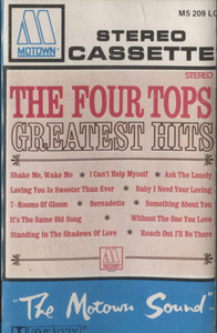 Four Tops: Four Tops Greatest Hits -  Audio Cassette Tape