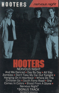 Hooters: Nervous Night -  Audio Cassette Tape