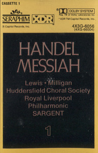 Royal Liverpool Philharmonic / Huddersfield Choral Society: Handel Messiah, Tape 1 -  Audio Cassette Tape