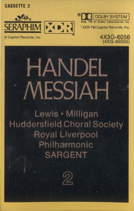 Royal Liverpool Philharmonic / Huddersfield Choral Society: Handel Messiah, Tape 2 -  Audio Cassette Tape