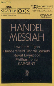 Royal Liverpool Philharmonic / Huddersfield Choral Society: Handel Messiah, Tape 3 -  Audio Cassette Tape