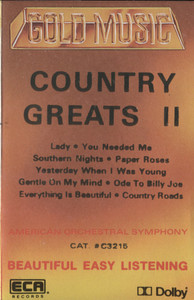 American Orchestral Symphony: Country Greats II -  Audio Cassette Tape