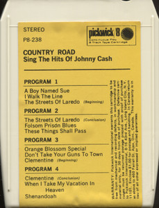 Country Road: Sings the Hits of Johnny Cash - 8 Track Tape