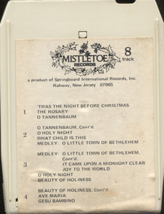 Liberace: 'Twas the Night Before Christmas - 8 Track Tape