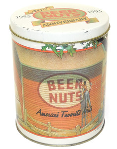 1993 Vintage Beer Nuts 40th Anniversary Advertising Tin Canister