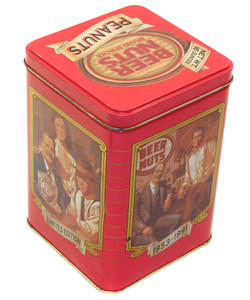 1991 Vintage Beer Nuts Limited Edition Square Advertising Tin Canister