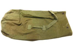 Vintage Vietnam Era Soldier Used Olive Drab Army Green Canvas Duffel Bag - 40""
