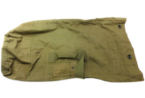 Vintage Estate Found Army Soldier Used Olive Drab Canvas Duffel Bag