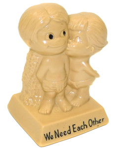 1970 Vintage W.E.R. Berries Co We Need Each Other Novelty Kids in Diapers Figure
