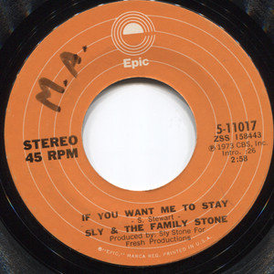 Sly & the Family Stone: Babies Makin' Babies / If You Want Me to Stay - 45 rpm Vinyl Record