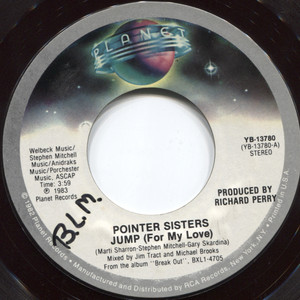Pointer Sisters: Heart Beat / Jump (For My Love) - 45 rpm Vinyl Record