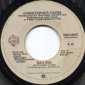 Christopher Cross: Sailing / Poor Shirley - 45 rpm Vinyl Record