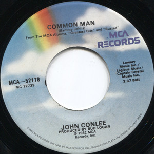 John Conlee: Rose Colored Glasses / Common Man - 45 rpm Vinyl Record