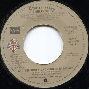 David Frizzell: I'm Gonna Hire a Wino to Decorate Our Home / Another Honky-Tonk Night on Broadway - 45 rpm Vinyl Record