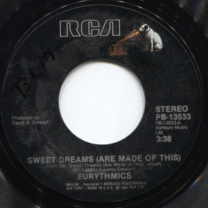 Eurythmics: Sweet Dreams (Are Made of This) / I Could Give You (A Mirror) - 45 rpm Vinyl Record