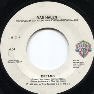 Van Halen: Dreams / Inside - 45 rpm Vinyl Record