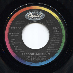 Freddie Jackson: Rock Me Tonight (Groove Version / For Old Times Sake) - 45 rpm Vinyl Record