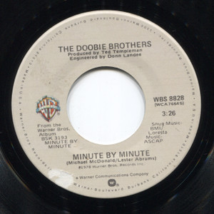 The Doobie Brothers: Sweet Feelin' / Minute by Minute - 45 rpm Vinyl Record