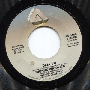 Dionne Warwick: Deja Vu / All the Time - 45 rpm Vinyl Record