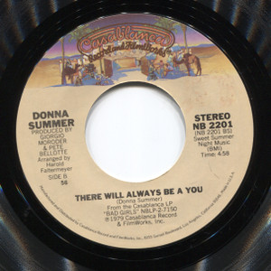 Donna Summer: Dim All the Lights / There Will Always Be a You - 45 rpm Vinyl Record