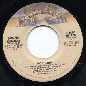 Donna Summer: Hot Stuff / Journey to the Centre of Your Heart - 45 rpm Vinyl Record