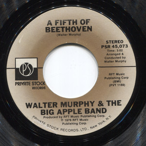 Walter Murphy & the Big Apple Band: A Fifth of Beethoven / California Strut - 45 rpm Vinyl Record