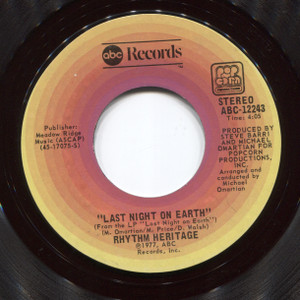 Rhythm Heritage: Theme from Rocky (Gonna Fly Now) / Last Night on Earth - 45 rpm Vinyl Record