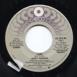 Gary Numan: Cars / Metal - 45 rpm Vinyl Record