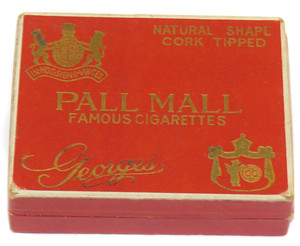 Vintage Pall Mall Georges Cork Tipped Cigarettes original Box