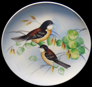 Vintage Lefton China Porcelain Hand-Painted Bird Collector Plate
