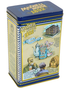 1992 Vintage Maxwell House Coffee 100th Anniversary Commemorative Tin Canister