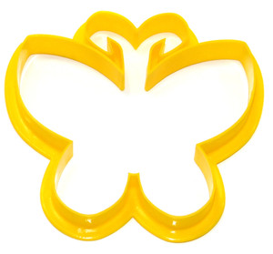 Vintage Yellow Plastic Butterfly Shaped Cookie Cutter