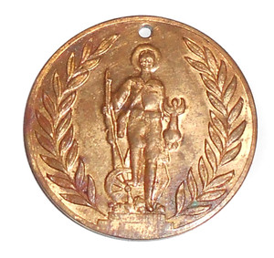 1920's Clearfield War Memorial Fundraiser Donor Gift Token Medallion