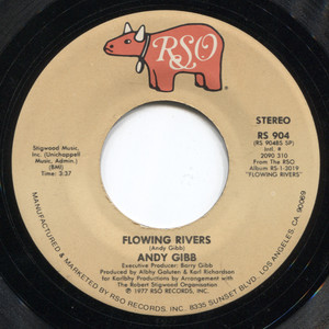 Andy Gibb: Flowing Rivers / An Everlasting Love - Vintage 45 rpm Vinyl Record