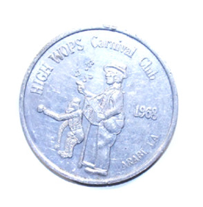 1968 High WOPS Carnival Club Commemorative Coin Token Arabi, LA