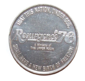 1976 Resurgence '76 Upper Room Ministry Commemorative Coin Token