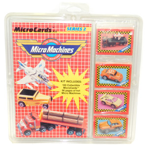 1989 Vintage NOS Micro Machines Series 2 Microcards Trading Cards & Book