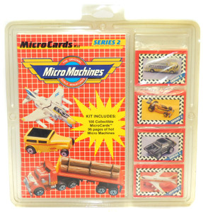 NOS 1989 Vintage Micro Machines Series 2 Microcards Trading Cards / Book