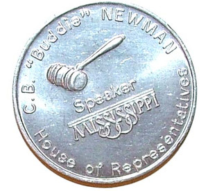 C.B. Buddie Newman Speaker of the House Coin - Mississippi