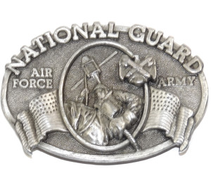 1982 Vintage Bergamot National Guard Air Force Army Military Themed Belt Buckle