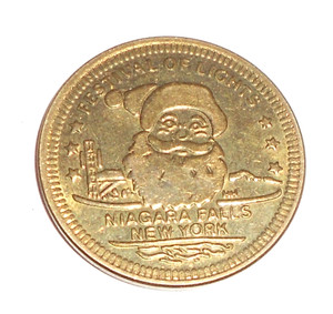 Festival of Lights Christmas Santa Claus Commemorative Coin Token - Niagara Falls, NY